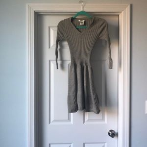 Sweater dress with stretch